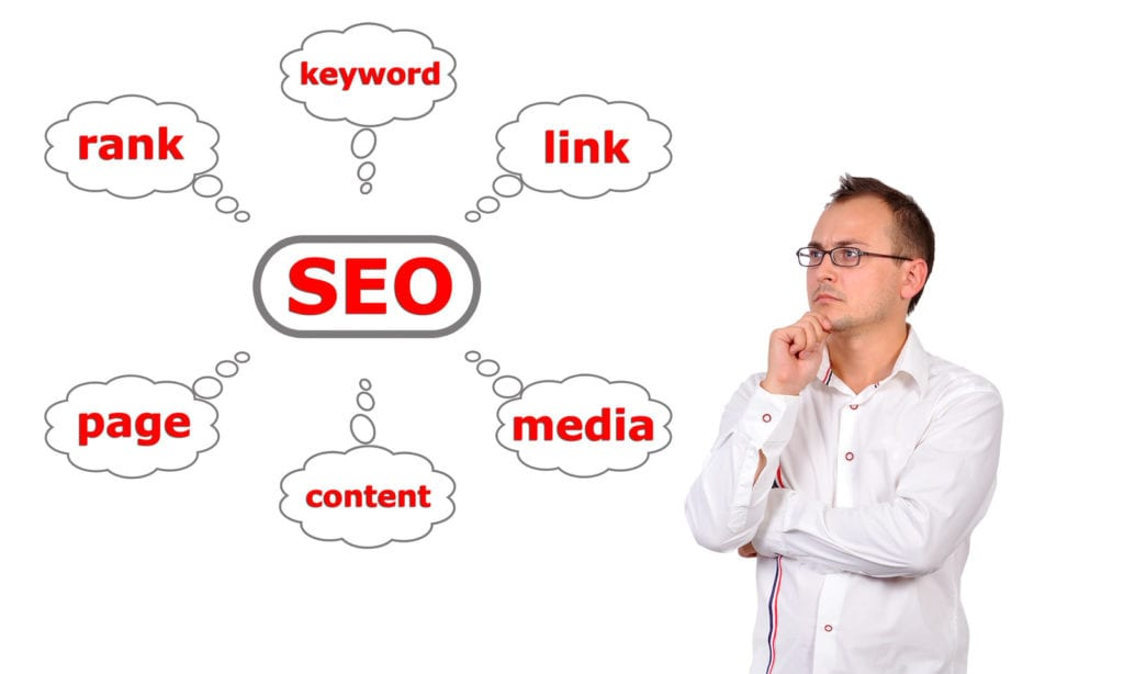 on-page seo thought cloud