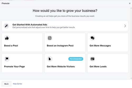 Get started with automated Facebook ads