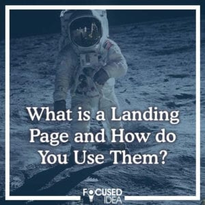 What is a landing page and how do you use them?